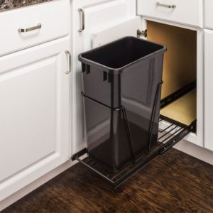 Single Trash Can Pullout 15 inch cabinet