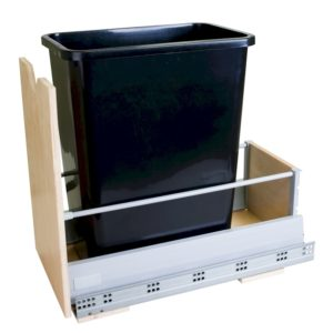 35 Qt. Trash Can Pull Out available with Black, White Or Grey trash can.