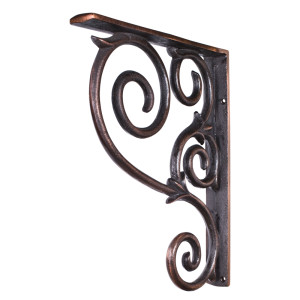 Wrought Iron Scrolled Bar Bracket