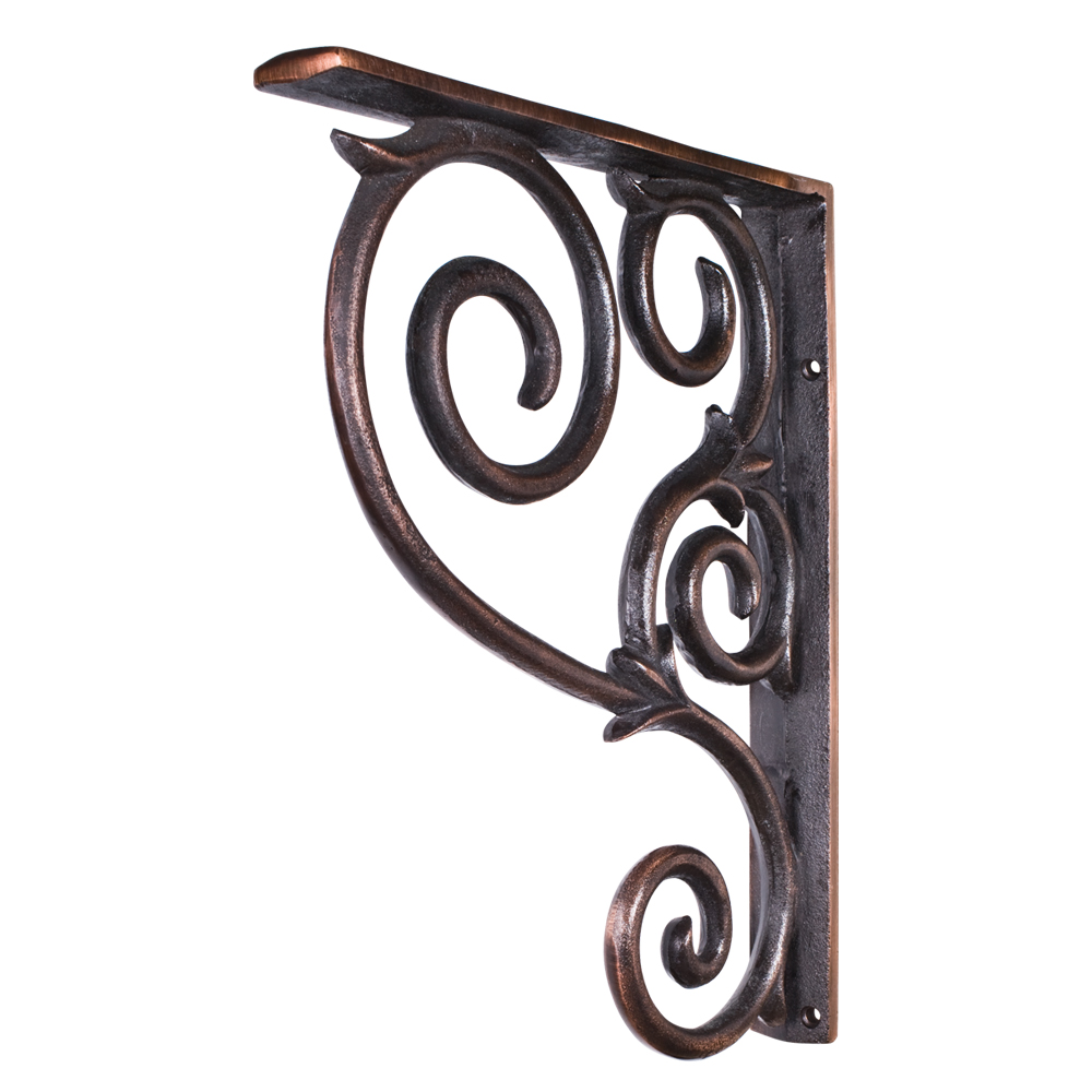 Wrought Iron Scrolled Bar Bracket Corbel Mcor1 All