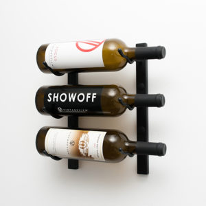 1 Foot Wall Series 3 Bottle Wine Rack