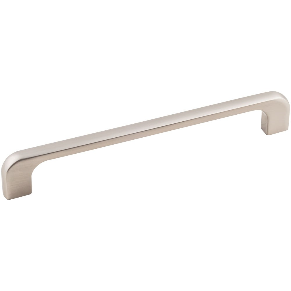 "Alvar 264-160 Cabinet Handle 7 inches overall length tab pull. Holes are 160mm (6-1/4 inches) center-to-center. Packaged with two 8-32 X 1"" screws."
